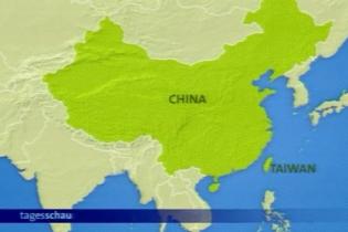 Karte Taiwan in Asien