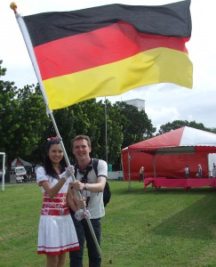 German flag in Taiwan