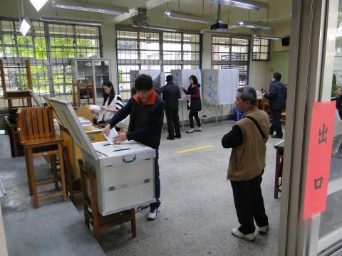 Wahllokal Taiwan 2012
