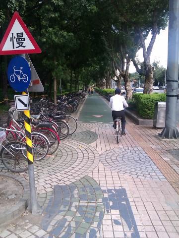 Taipei Daan Forest Park bike lane