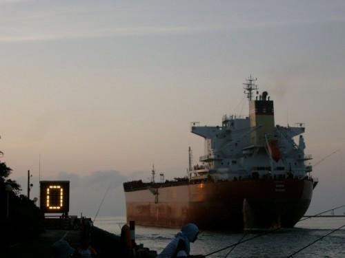 Kaohsiung port harbor ship