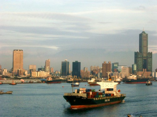 Kaohsiung port harbor skyline