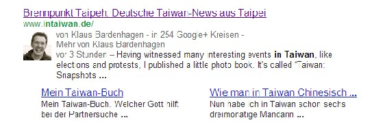 Google Author Snippet