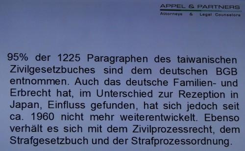Recht Taiwan deutsche Ursprünge BGB