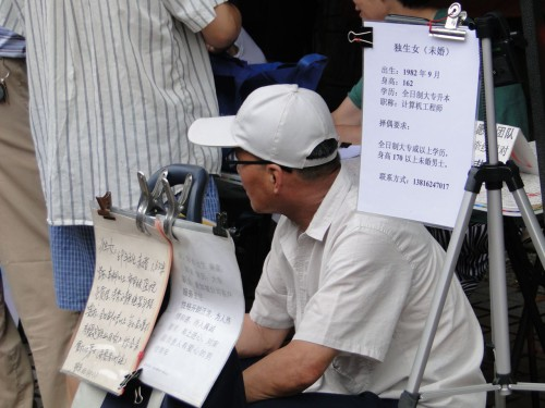 Shanghai Heiratsmarkt Eltern