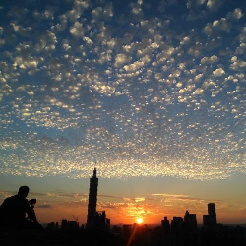 Taipei 101 Sonnenuntergang