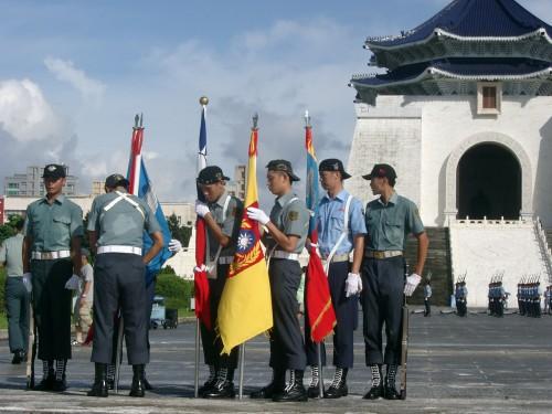 Soldaten der Republik China in Taipeh