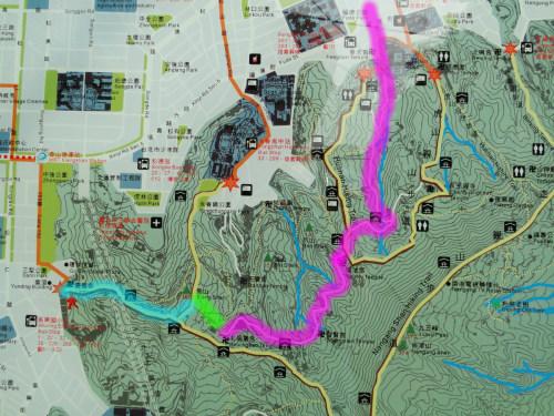 Elephant Mountain Map Taipei 101 by car