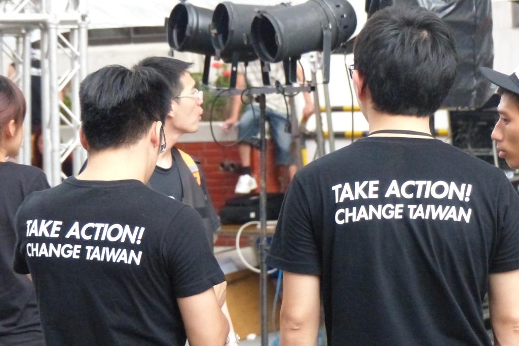 Junge Taiwaner, politisch engagiert