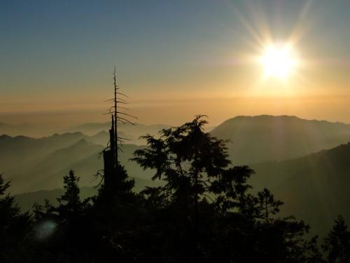 Taiwan mountain panorama