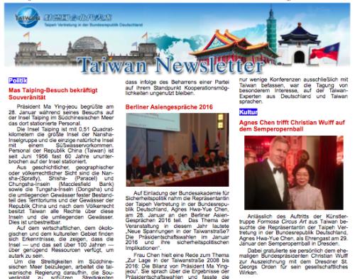 Taiwan Newsletter Berlin