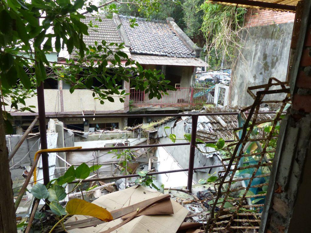 Verfallenes Wohnviertel Taipeh