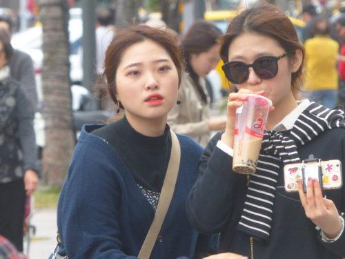 Touristinnen aus Korea