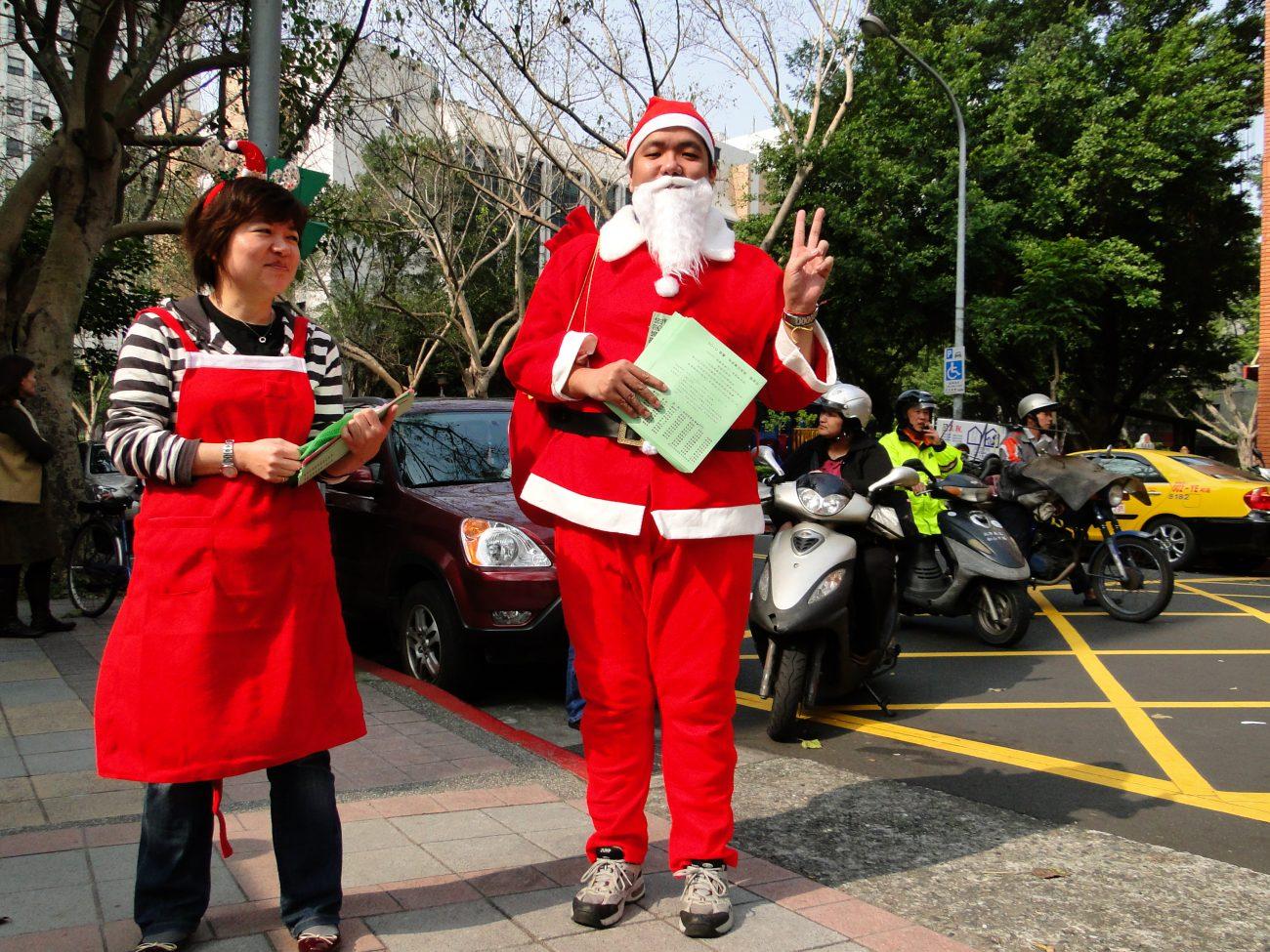 Weihnachtsmann Taiwan Weihnachten