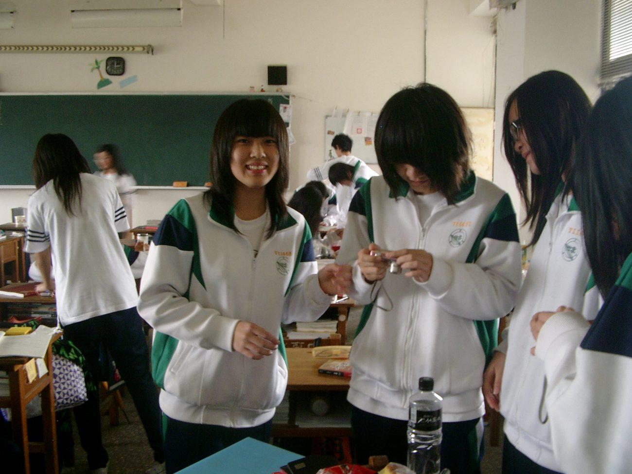Schülerinnen Taiwan Schuluniform
