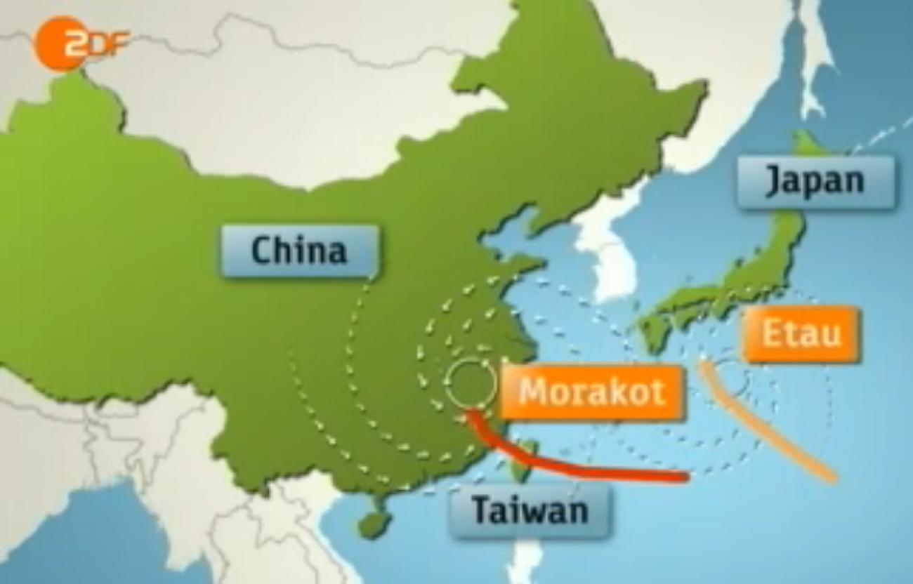 Taifun ZDF Karte