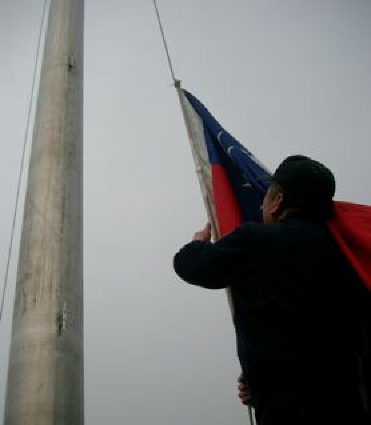 Einholen der Flagge